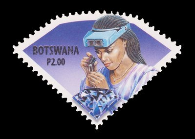 Diamantaire (timbre) - Botswana - 2001 -- 06/09/08