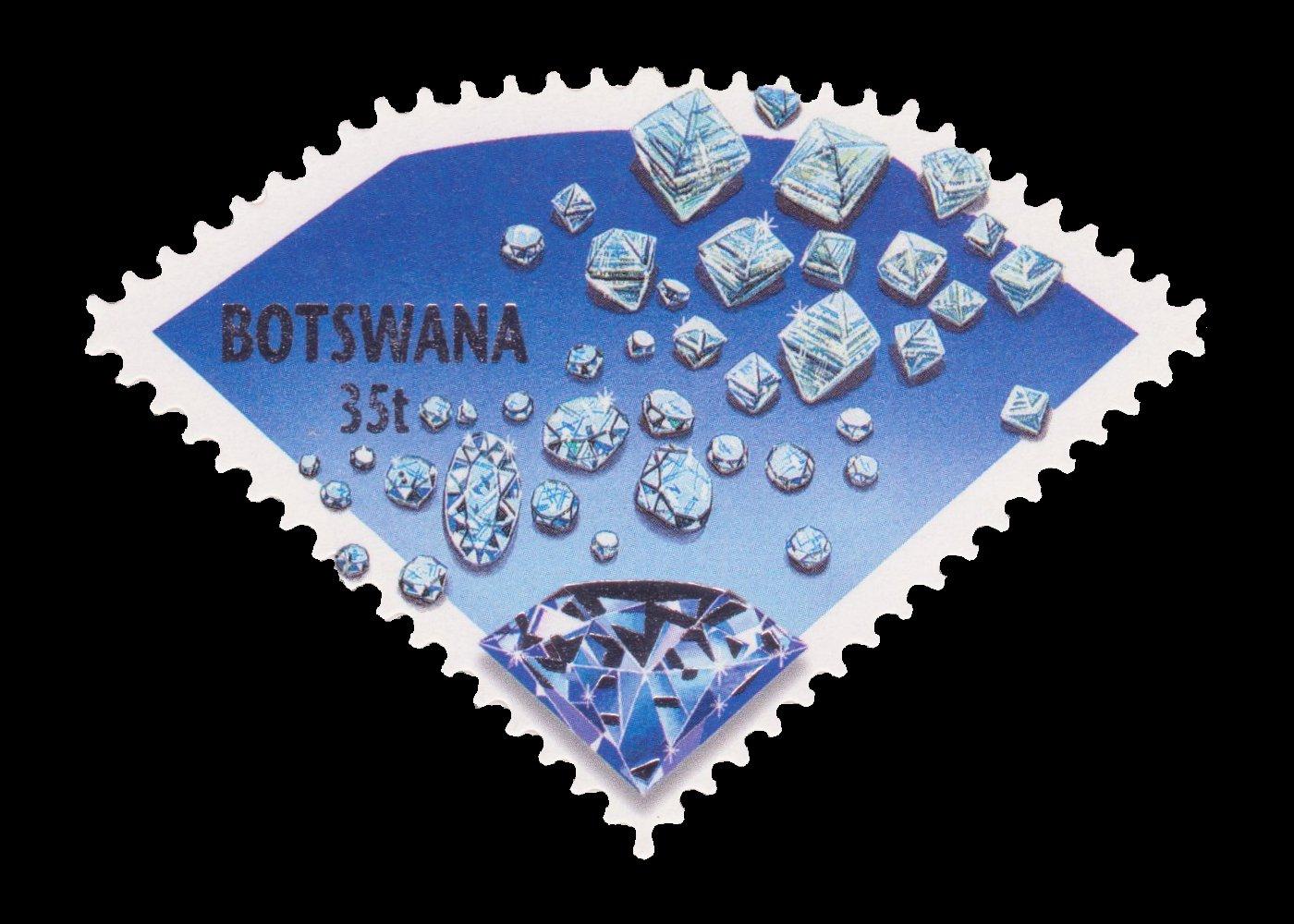 Jwaneng Botswana  City new picture : Diamants timbre Botswana 2001