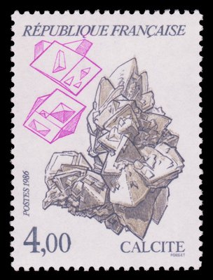 Calcite (timbre) - France - 1986 -- 03/08/08