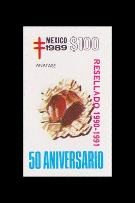 Anatase (timbre) - Mexique - 1989 -- 13/08/08