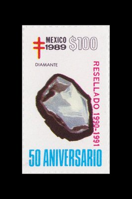 Diamant (timbre) - Mexique - 1989 -- 14/08/08