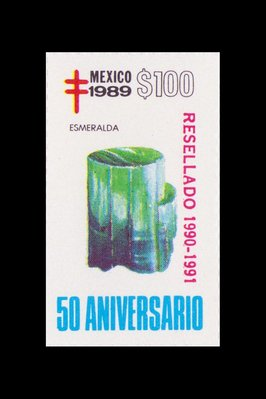 Emeraude (timbre) - Mexique - 1989 -- 12/08/08