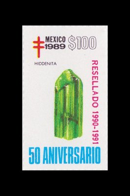 Hiddenite (timbre) - Mexique - 1989 -- 14/08/08