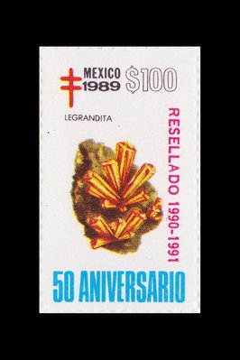 Legrandite (timbre) - Mexique - 1989 -- 19/08/08