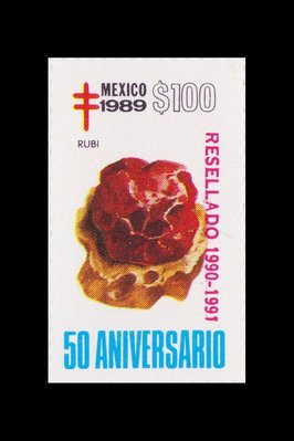 Rubis (timbre) - Mexique - 1989 -- 14/08/08