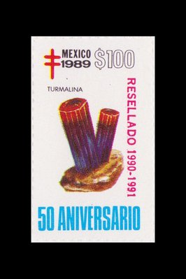 Tourmaline (timbre) - Mexique - 1989 -- 17/08/08