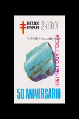 Turquoise (timbre) - Mexique - 1989 -- 13/08/08